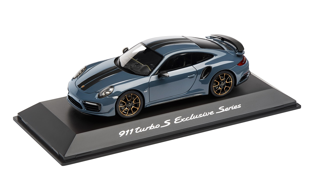 MUDELAUTO 911 TURBO S EXCLUSIVE SERIES, graphite metallic, 1:43