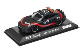 MUDELAUTO 911 TURBO, SAFETY CAR WEC, Limited Edition, must/punane, 1:43