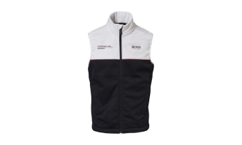 VEST MOTORSPORT COLLECTION, must/valge, unisex