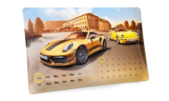 KALENDER 911 TURBO S metallist